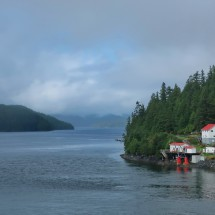 Boat Bluff Lighthouses which are located half the way between Prince Rupert and Port Hardy / Vancouver Island