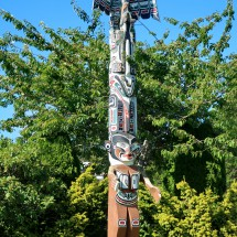 Totem Pole in Port Hardy