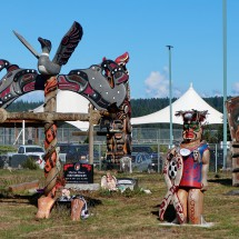 Graveyard of the First Nations People in Campbell River