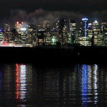 Downtown of Vancouver at night