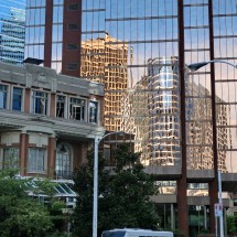 Old and new in Vancouver's downtown