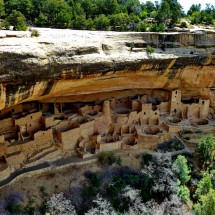 Cliff Palace built about 1200 AD by the Ancestral Pueblo people