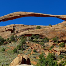 Landscape Arch which is with 88 meters span one of the largest on earth