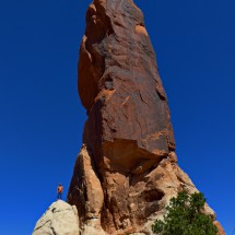 40 meters high sandstone spire Dark Angel