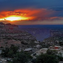 Sunset with Tayler Canyon in the Canyonlands National Park