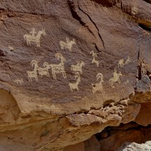 Ute Rock Art carved between 1650 AD and 1850 AD