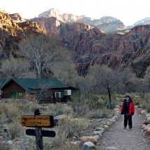 Marion close to Phantom Ranch on the bottom of Grand Canyon