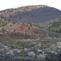 Sunset Crater which erupted between 1040 and 1100AD