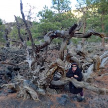 Marion in the Bonito Lava Flow of Sunset Crater
