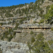Cliff dwellings in the Walnut Canyon