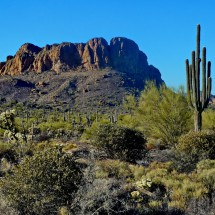 Unkown Rocky Peak in the Superstition Mountains north of our campsite Apache Trail