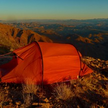 Our tent at sunrise