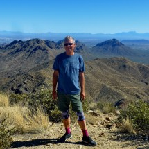 Alfred on top of 1429 meters high Wasson Peak in the Tucson Mountains