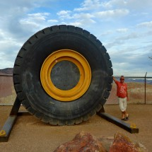 Huge tire of the Morenci Copper Mine