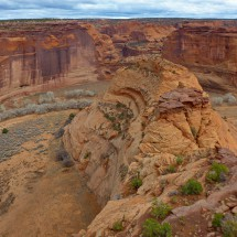 Eastern view into Canyon de Chelly seen from the White House Overlook