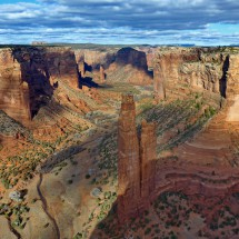 250 meters tall spire Spider Rock in the Canyon de Chelly