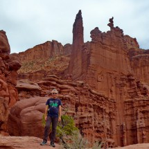 Alfred with Fisher Towers