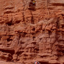 Climbers on Fisher Towers