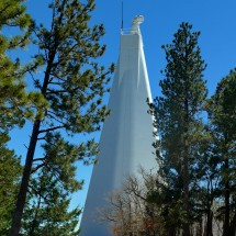 41 meters tall tower of the Dunn Solar Telescope on top of Sacramento Peak