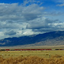 Long, long train on our drive to Albuquerque