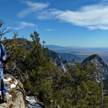 Alfred on the summit of 3184 meters high North Sandia Peak