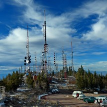Summit transmitters of 3255 meters high Sandia Crest which is accessible by car