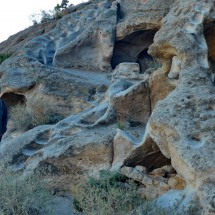 Caves and stairs of the ancestral Pueblo people