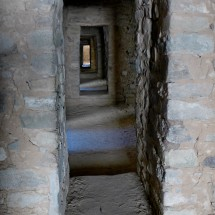 Passage in the Aztec ruins