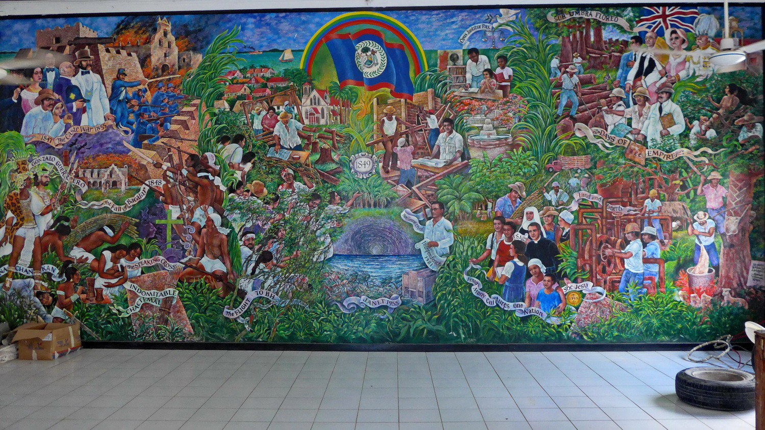 Mural in the city hall of Corozal