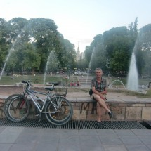 The last time with our bicycles - Plaza Independencia in Mendoza