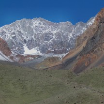 Cerros Vallecitos (5461 meters) in the top center and Adolfo Calle on the right (4210 meters)