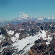 Aconcagua is in the West - With 6952 meters the highest point of America