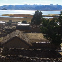Village on lake Popoo between Potosi and Oruro