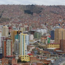 La Paz seen from the viewpoint Mirador Laikakota
