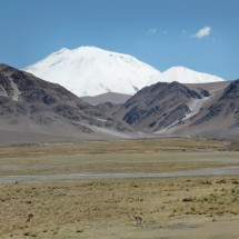 First view of Cerro Incahuasi - a lot of snow!