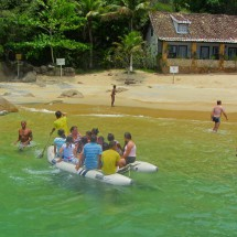 Praia Vermelha (Red beach) accessible by boat only