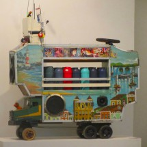 Coffee trolley with music in the Museu Afro-Brazil