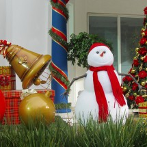 Snowman in hot Sao Paulo (more than 28°C)