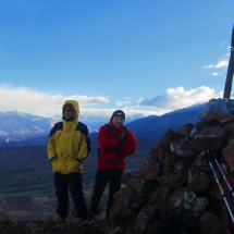 Alfred and Tommy on top of the northern cone of Los Gemelos