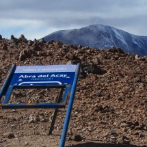 The highest point of the more than 5000 km long Ruta 40: Abra del Acay with 4895 meters sea-level
