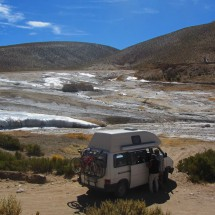 Our motor-home with the hot springs