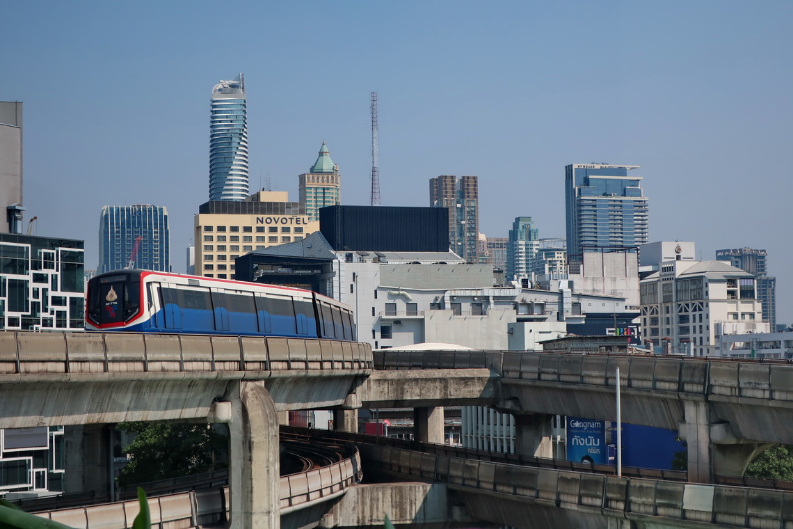 Skytrain close to the Bangkok Art and Culture Center