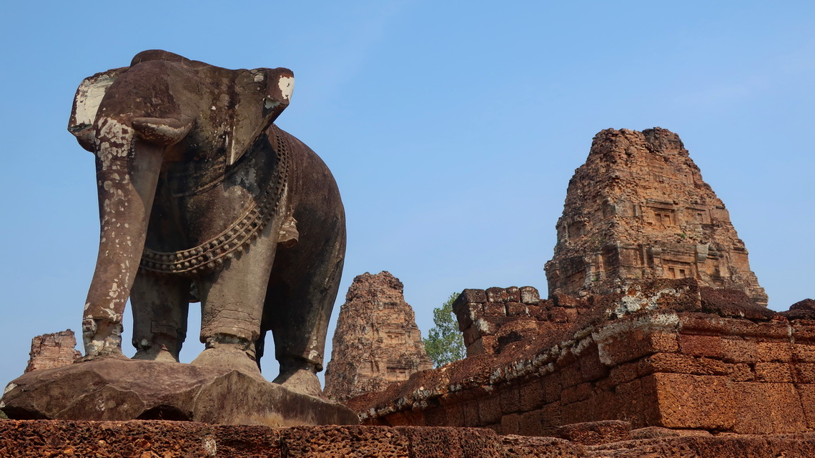 Elephant in the East Mebon Ruins which is one of the oldest parts of the Angkor Wat complex (built between 944 and 968)