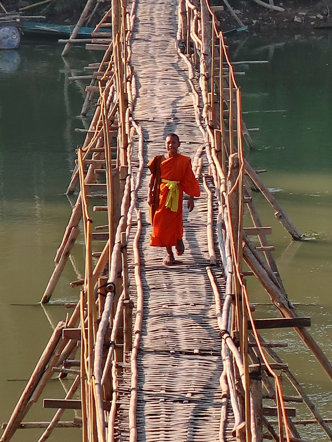 Monk on the southern bamboo bridge