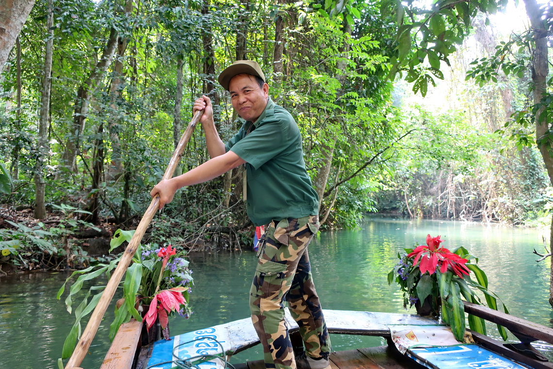 Our Captain of the bamboo boat