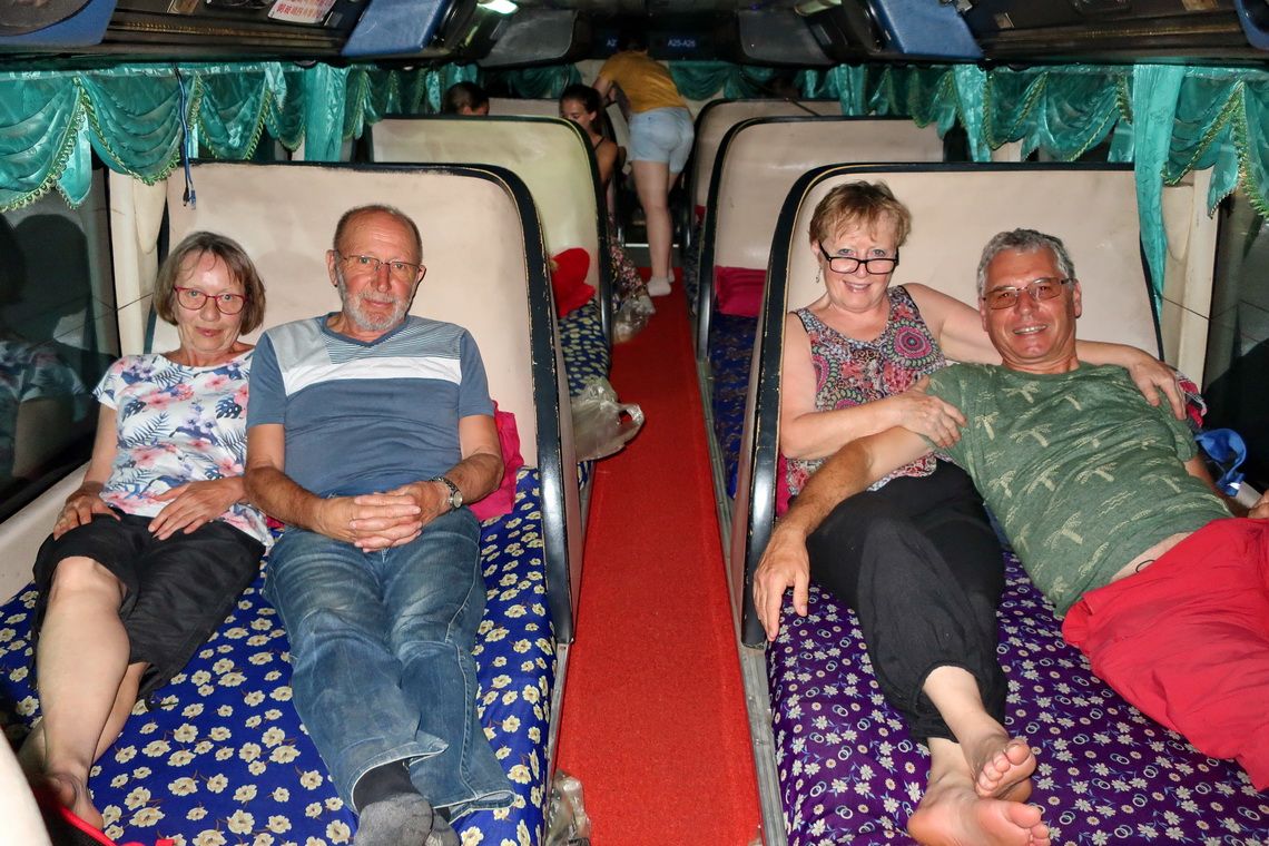 In the sleeper bus to Pakse