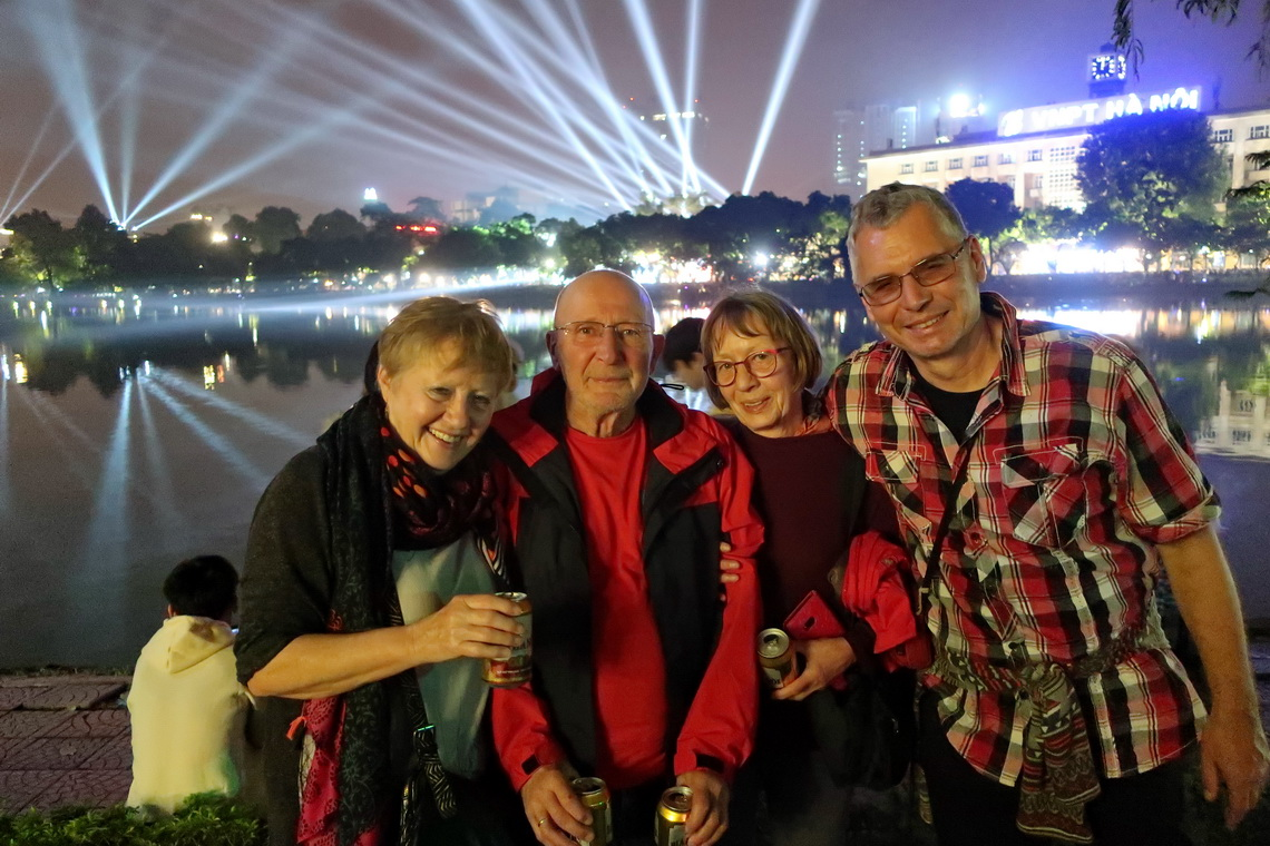 Marion, Hermann, Jutta and Alfred on New Year's Eve