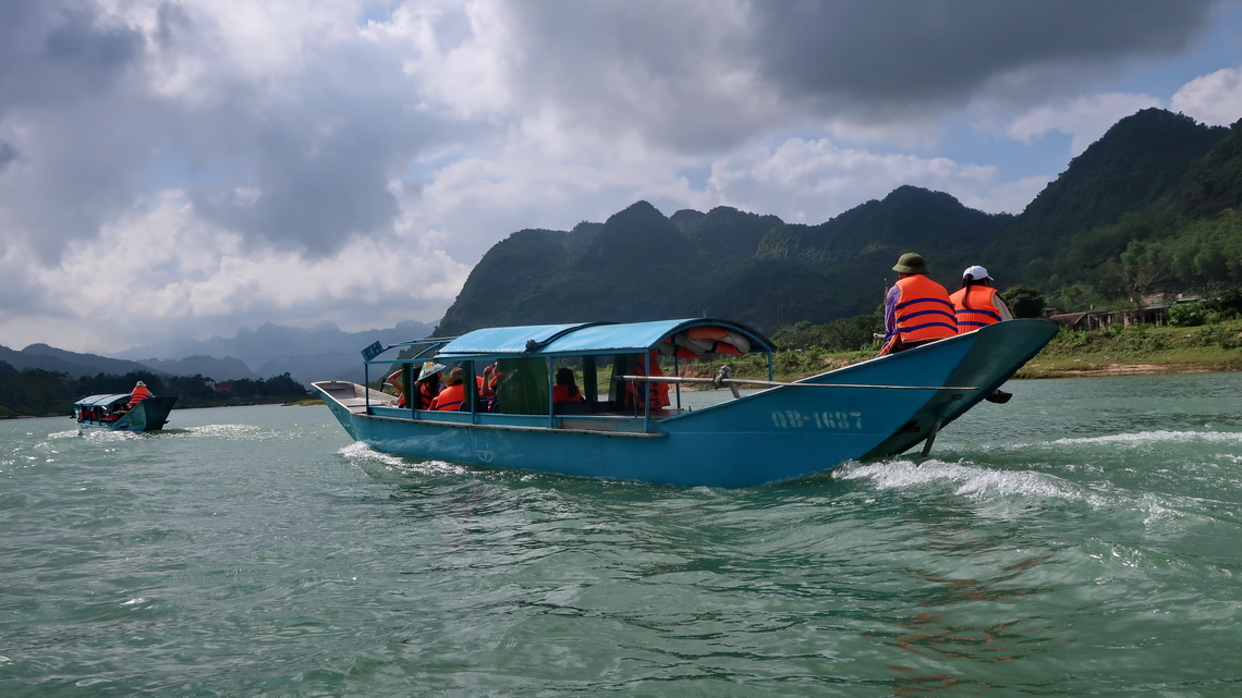On the Son - Lipstick River to the Phong Nha Cave which is the largest known river cave on earth