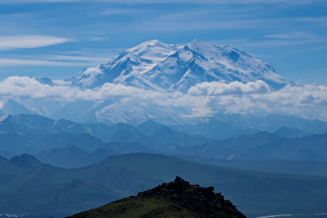 Denali from the summit of 1539 meters high Mount Galen