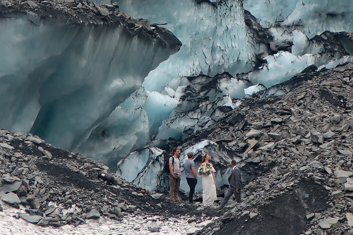 Wedding on Byron Glacier